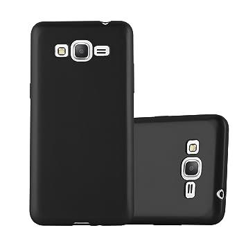 Cadorabo - Carcasa de Silicona para Samsung Galaxy Grand Prime, Color Negro metálico