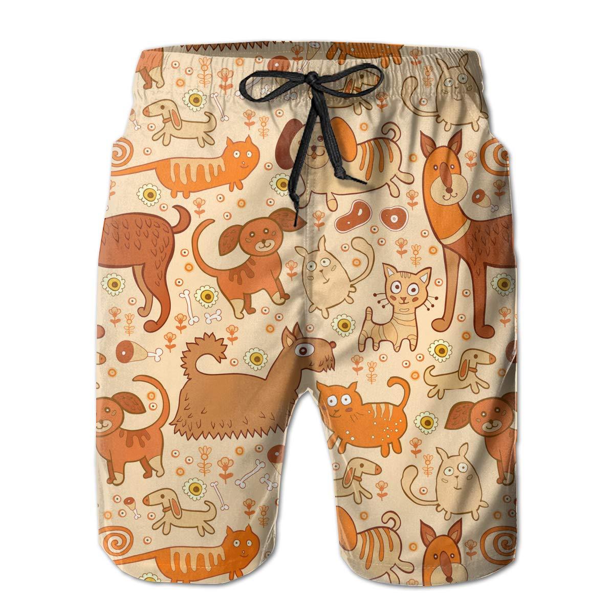 APPCLL Fashion Swim Trunks Mens Board Shorts Good Dachshund Dog Quick Dry Shorts