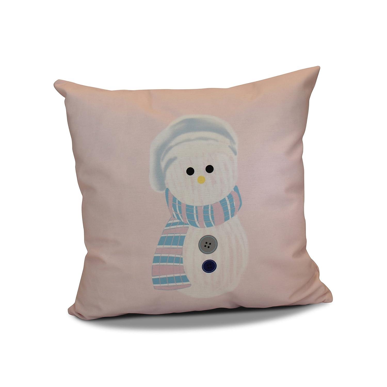 Light Blue 18x18, Sock Snowman Pillow E by design PHGN689BL24-18 18 x 18-inch