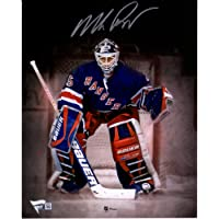 "$69 » Mike Richter New York Rangers Autographed 8"" x 10"" In Net Spotlight Photograph - Autographed NHL Photos"