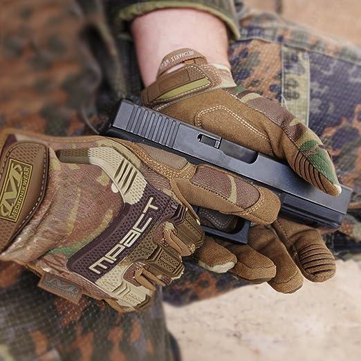 Mechanix Wear M Pact Tactical Einsatz Handschuh Optimaler Schutz Atmungsaktiv Beste Passform Gear Karabiner Schwarz Covert Coyote Multicam Wolf Grey Größe S M L Xl Bekleidung