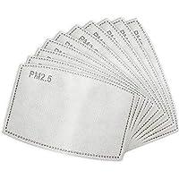 FLOWZOOM Snood Gezichtsmasker voor Mannen en Vrouwen met Filter (4 stuks) | Sjaal Gezichtsmaskers Herbruikbaar | Zwart…