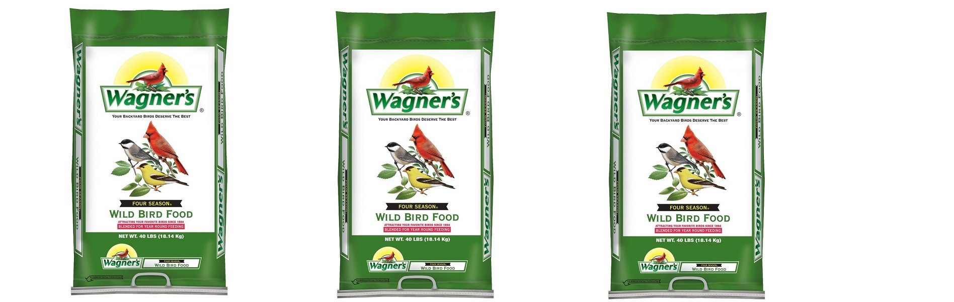 Wagner's 13013 Four Season Wild Bird Food, 40-Pound Bag (3,BAGS) by Wagner's