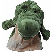 SODIAL(R) Marionetas de mano animales de terciopelo de felpa lindo Diseno chic Juguete de ayuda de aprendizaje para ninos (Cocodrilo)