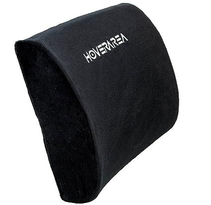 HOVERAREA Espuma de memoria Lumbar cojín de apoyo, inferior dolor de espalda Lumbar almohada para