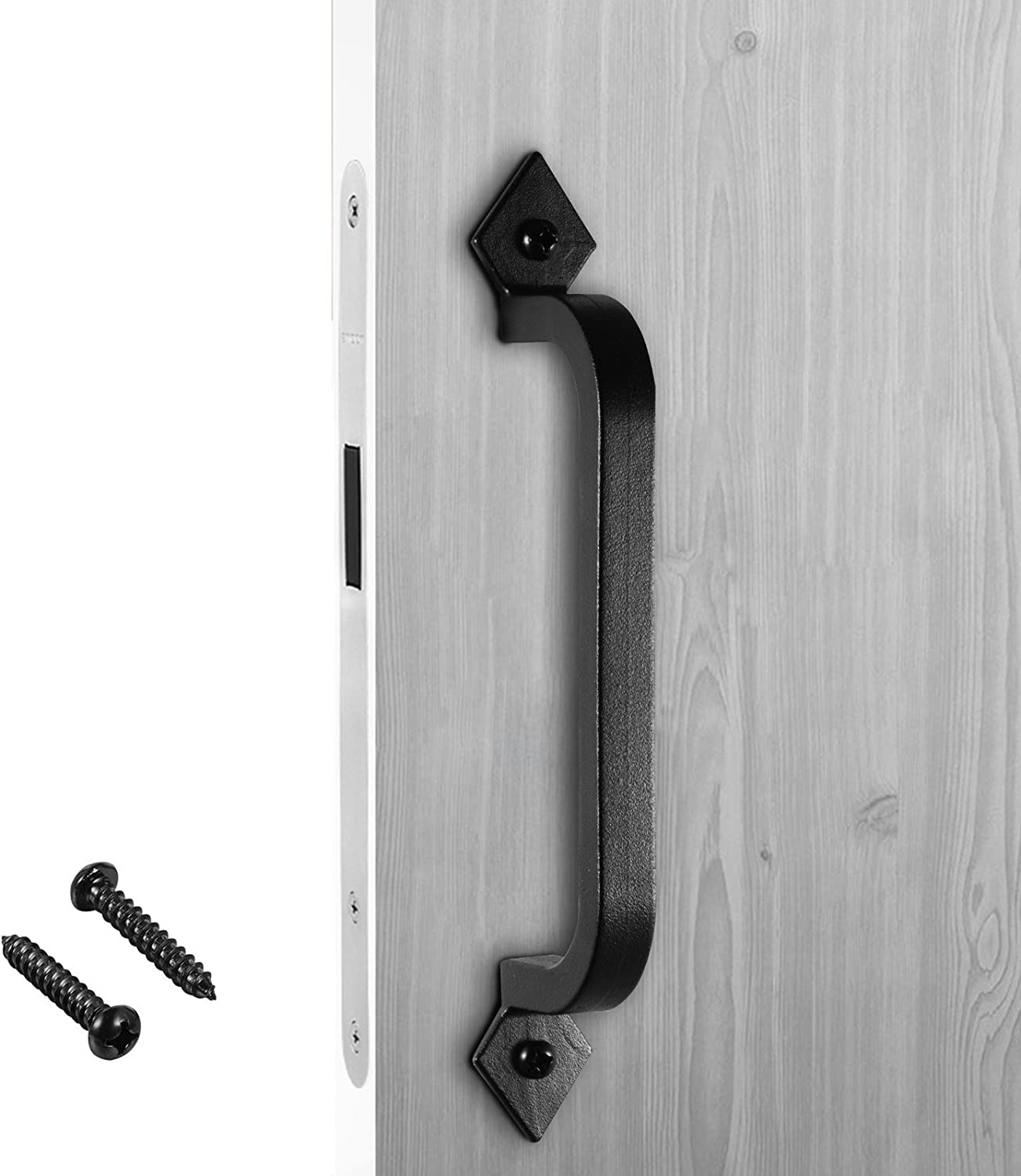 2 Handles Pulls Drawer Door Cabinet Barn Rustic Cast Iron Antique Style 7x2-1//2