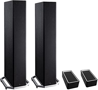 Amazon Com Definitive Technology Bp9020 High Power Bipolar Tower Speaker With Integrated 8 Subwoofer And Dolby Atmos Module Pair Black Electronics