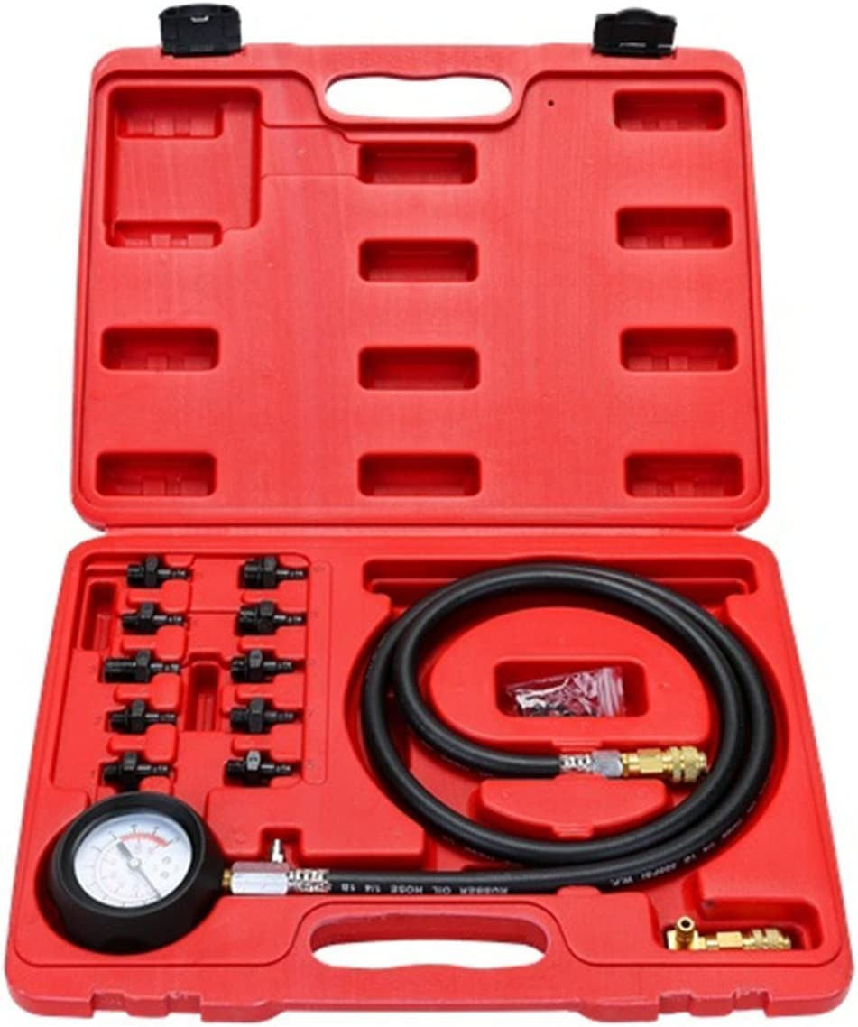 14 piece Engine Oil Pressure Tester Test Gauge Diagnostic Test Tool Set Kit