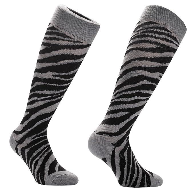 Samson® Safari Zebra Print Funky divertido regalo de la novedad Moda Deportes y Casual rodilla
