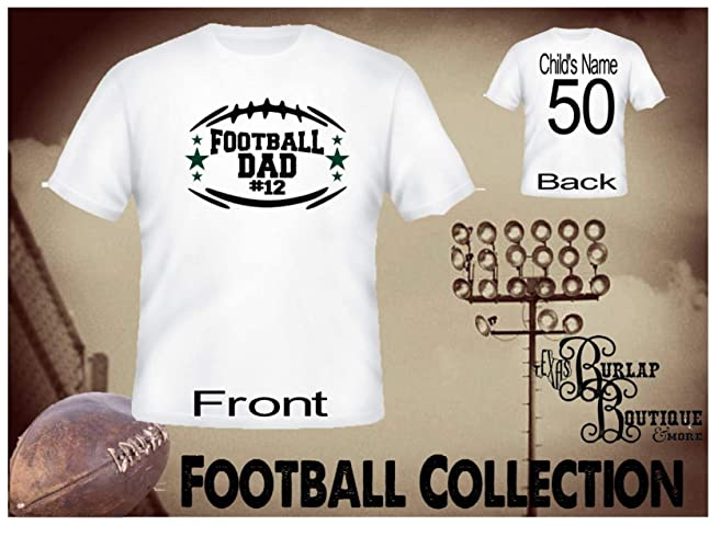 f7158076 Image Unavailable. Image not available for. Color: Handmade Personalized  Football Shirt, Football DAD, Tee, T ...