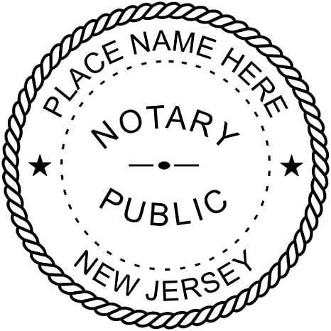Image Unavailable Not Available For Color New Jersey Notary Stamp