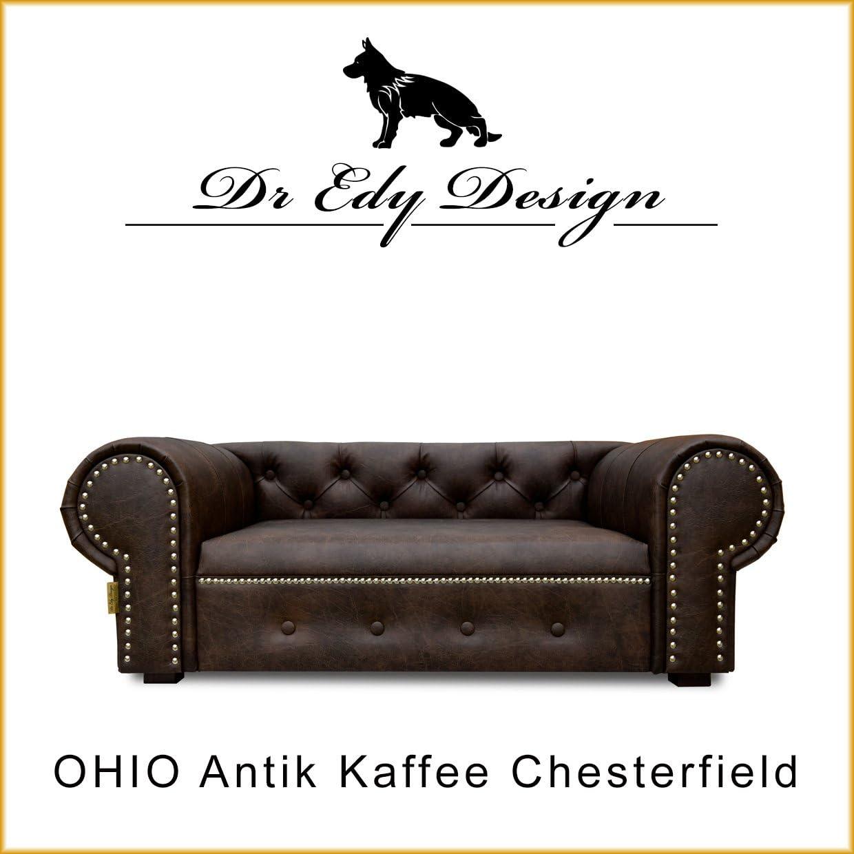 Edy Diseño Perro Sofá Cama para Perros Ohio Lux XL Antiguo Café ...