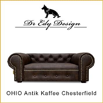 Edy Diseño Perro Sofá Cama para Perros Ohio Lux XL Antiguo Café Dog Bed: Amazon.es: Productos para mascotas