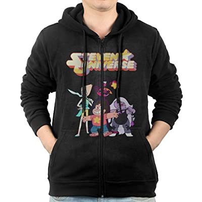 AASD Men's Steven Universe Customized Cool Full-Zip Fleece Hoodie