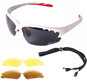 f0d95d4227 Rapid Eyewear Luna White UV POLARISED SPORTS SUNGLASSES For Men   Women  With Interchangeable Tinted