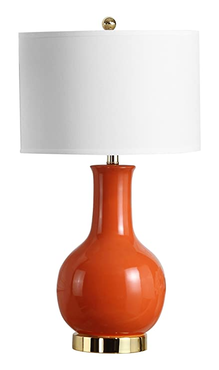 Safavieh lighting collection paris orange ceramic 27 5 inch table lamp