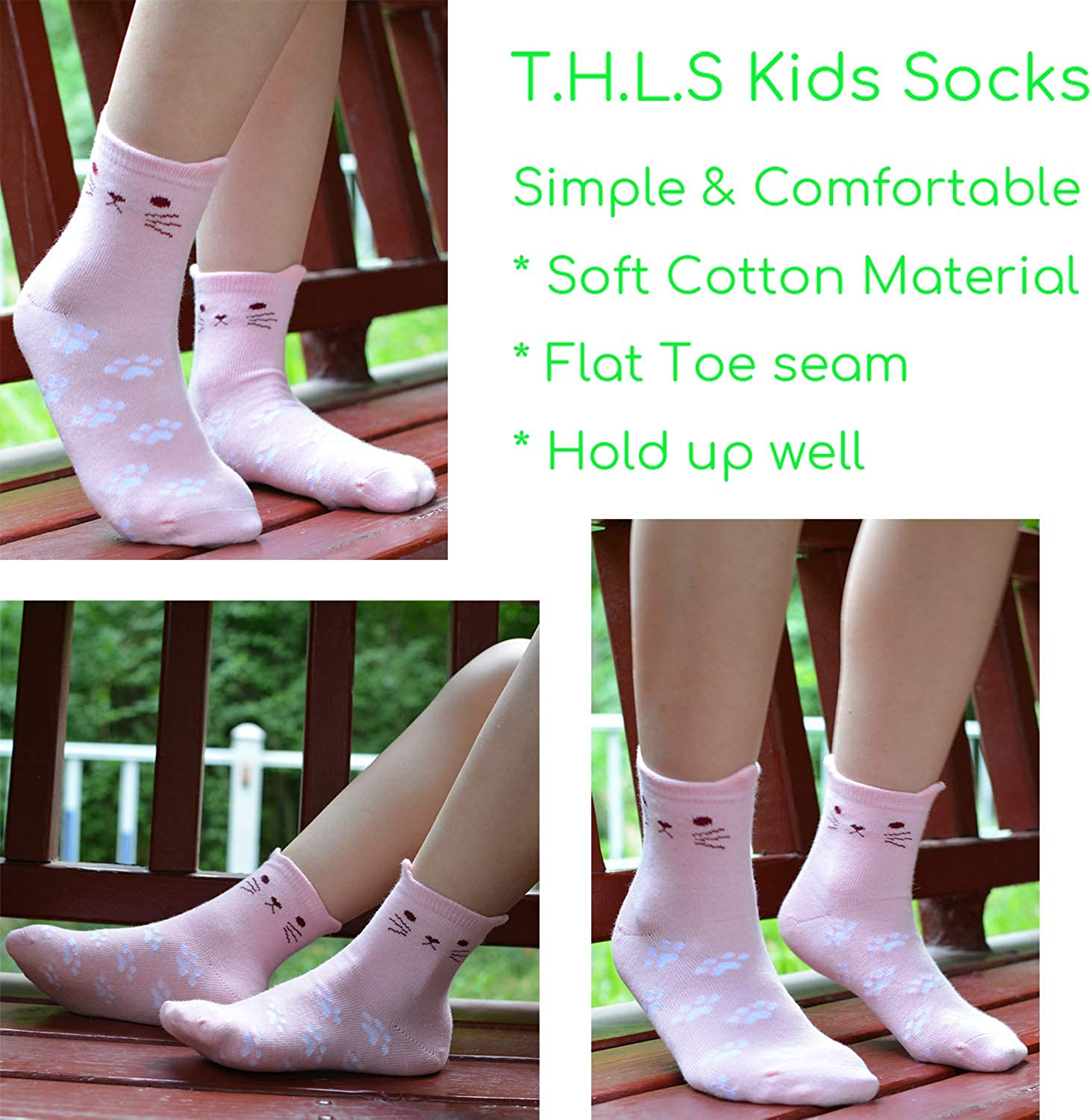 baby boys knee high cotton socks with flat toe seam for sensitive feet toddlers