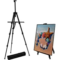 """Artist Easel, 56"""" Extra Thick Aluminum Field Easel Stand with Bag, Easels with Adjustable Height from 17-56-Inch Art…"""