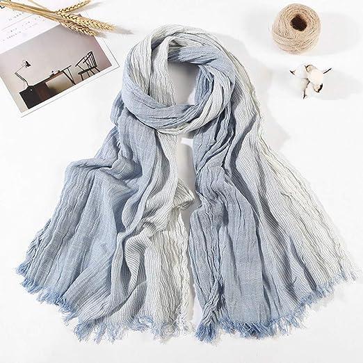 Ropa para mujer algodón manera de seda bufandas mujer del otoño y ...