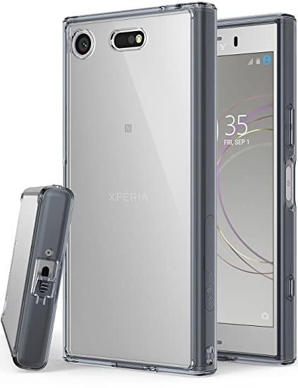 Ringke [Fusion] Compatible with Sony Xperia XZ1 Compact Phone Case Clear Minimalist Transparent PC Back TPU Bumper [Drop Protection] Scratch Resistant ...