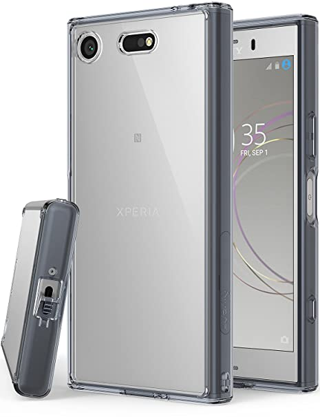 watch 3f91a dbad2 Sony Xperia XZ1 Compact Phone Case Ringke [Fusion] Crystal Clear Minimalist  Transparent PC Back TPU Bumper [Drop Protection] Scratch Resistant ...