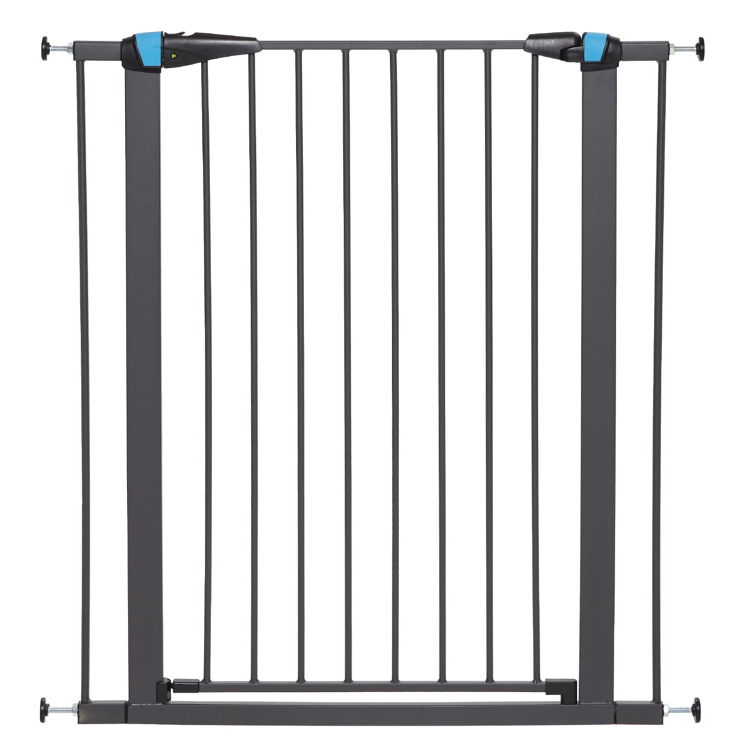 MidWest Homes for Pets Pet Gate | 39'' High Walk-thru Steel Pet Gate by 29'' to 38'' Wide in Textured Graphite w/Glow Frame, X-Tall