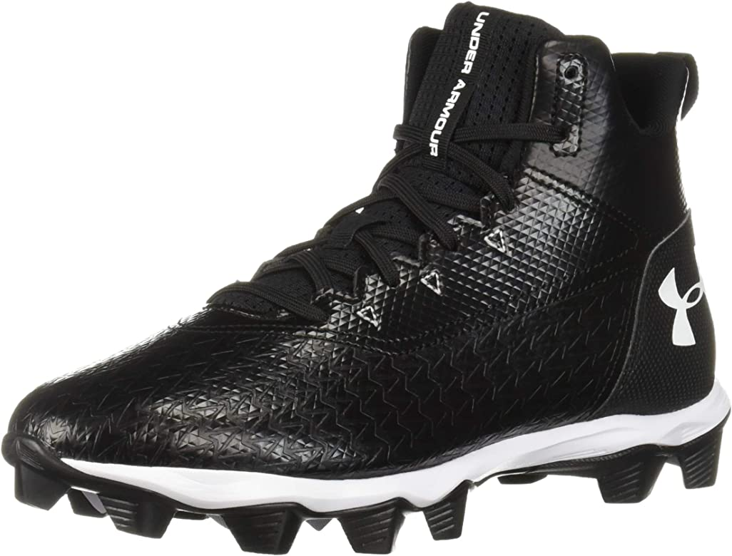 f3d1ef909276 Amazon.com | Under Armour Men's Hammer Mid RM Football Shoe, Black ...