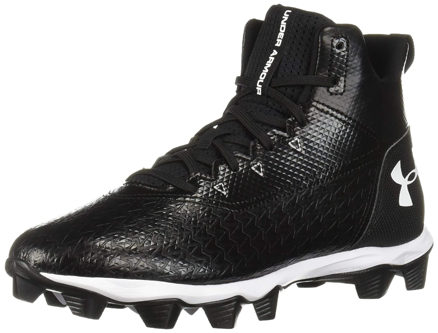 Under Armour Men's Hammer Mid RM Football Shoe, 黒 (002)/白い, 8.5 M US