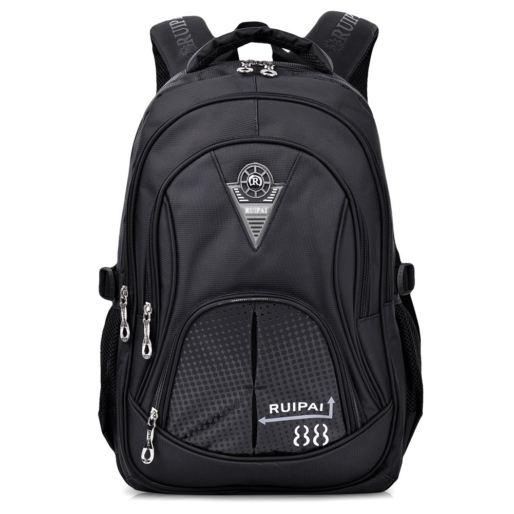 Vbiger Schulrucksack Schultasche Kinderrucksack Schulranzen Sportrucksack Freizeitrucksack Daypacks Backpack für Mädchen Jungen Kinder Schwarz