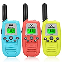 Kids Walkie Talkies, Wosports 3 Pack Two Way Radios with Belt Clip, 3 KM Range Children...