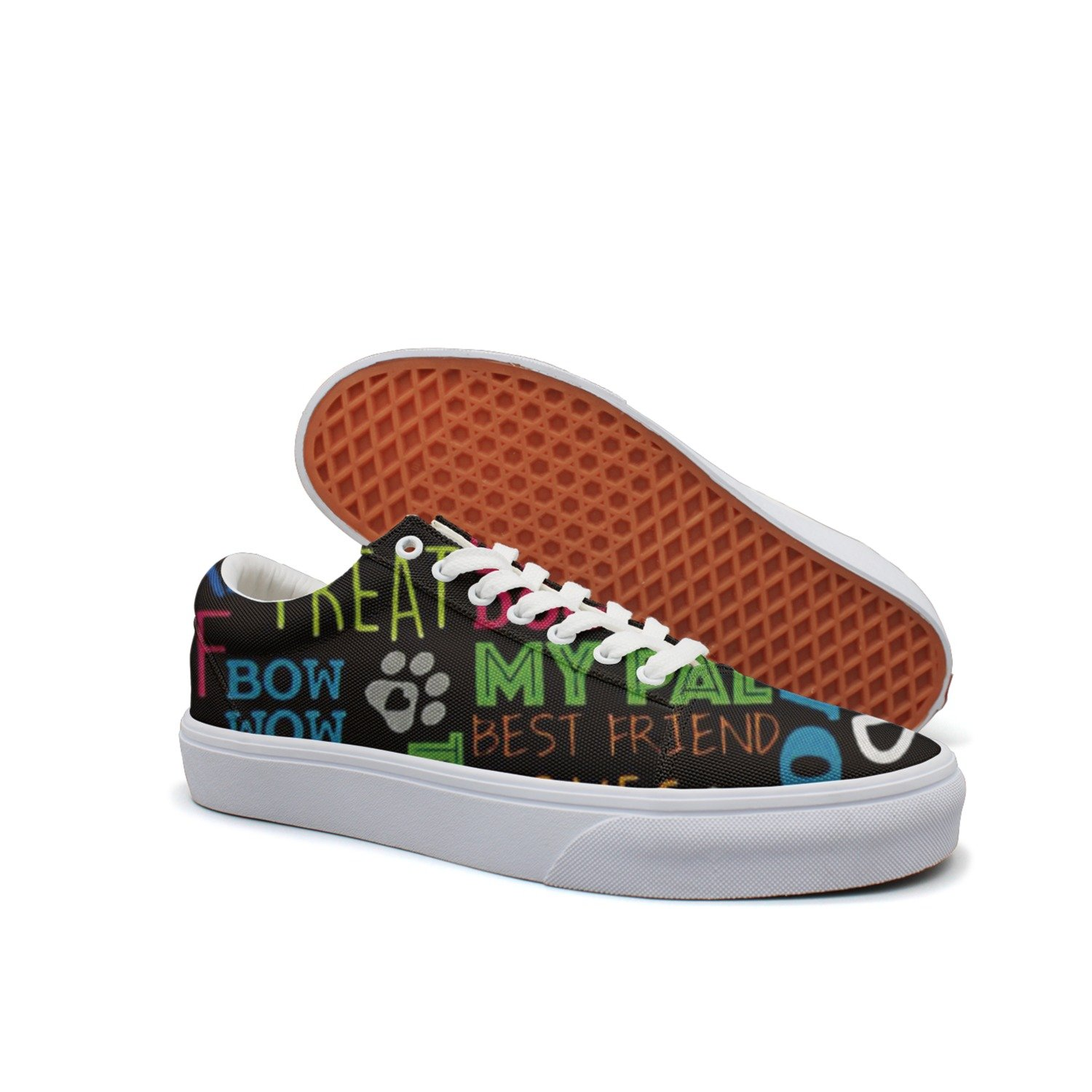Love Dog Words Adopt Not Buy Mesh Print Skateboarding Shoes