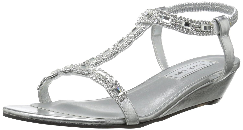 Touch Ups Women's Jazz Wedge Sandal B00PD3FZUO 6.5 B(M) US|Silver