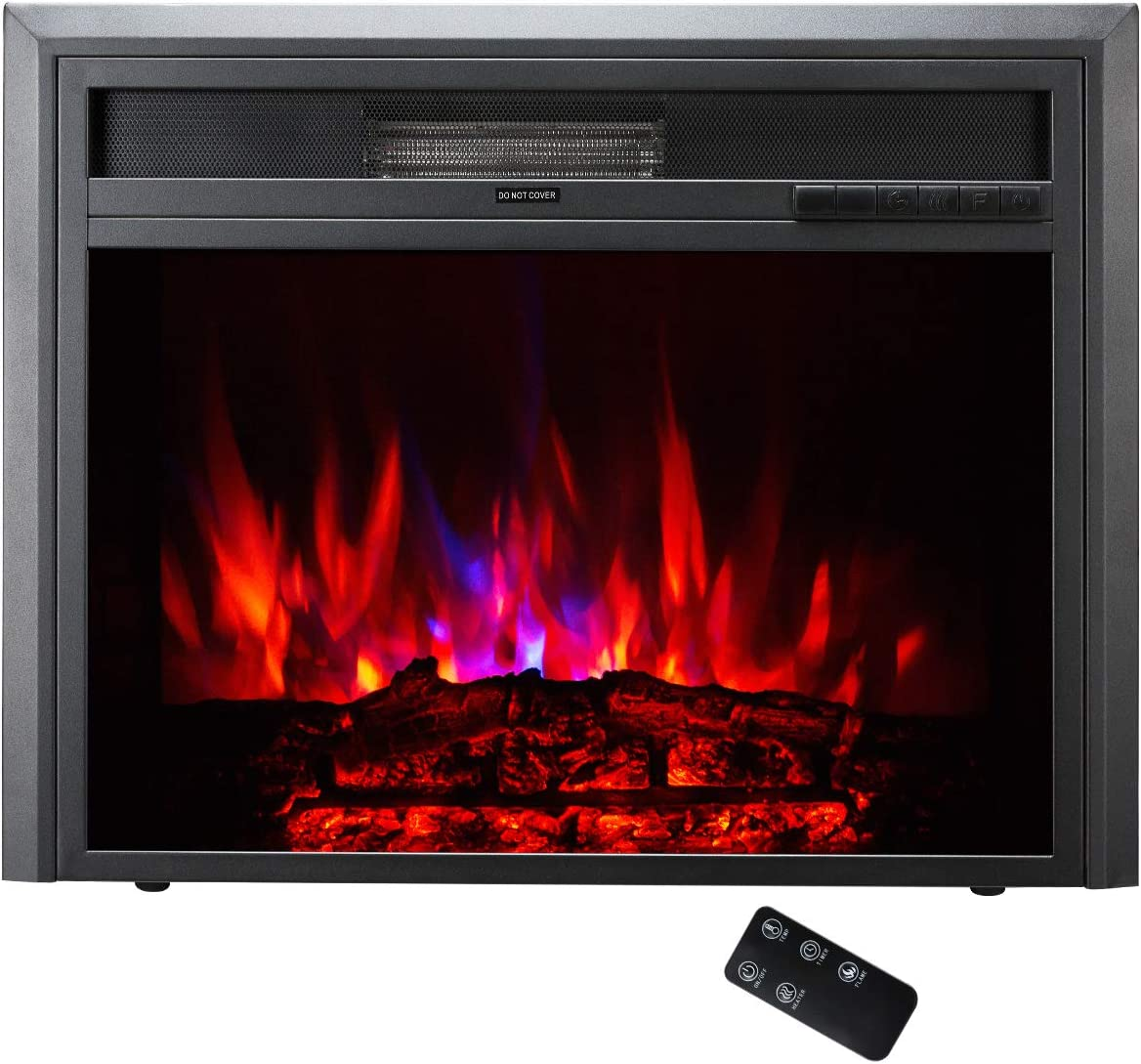 TAGI 23'' Embedded Electric Fireplace Insert, Recessed Electric Stove Heater with Remote Control