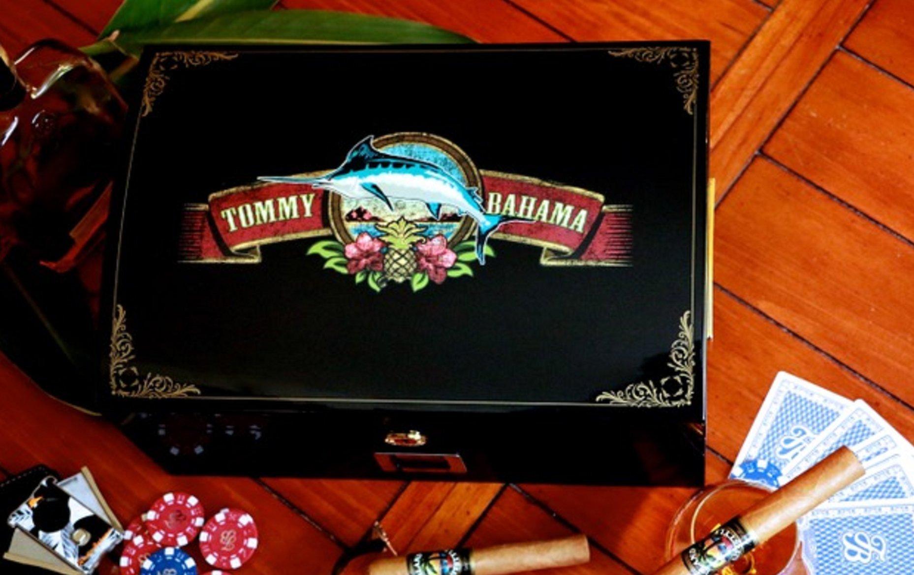 Tommy Bahama Cigar Band LED Humidor