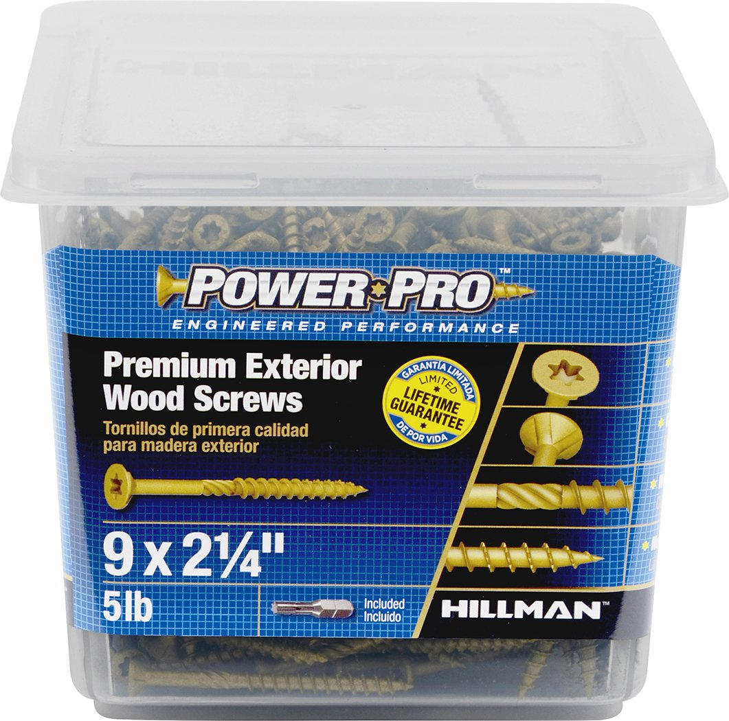 The Hillman Group 48609 Power Pro Exterior All Purpose Screw, 9'' x 2-1/4''