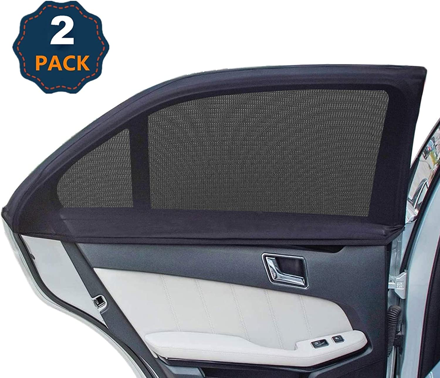 Amazon Com Universal Car Window Shades Side Window Shade For Car Breathable Mesh Baby Car Rear Window Sunshades Protects Kids From Sun Glare And Uv Rays 2 Pack Automotive