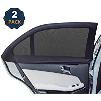 Universal Car Rear Side Window Sunshades,Car Rear Window Sun Shade,Breathable Mesh Baby Sun Shade Protects Kids from Sun…