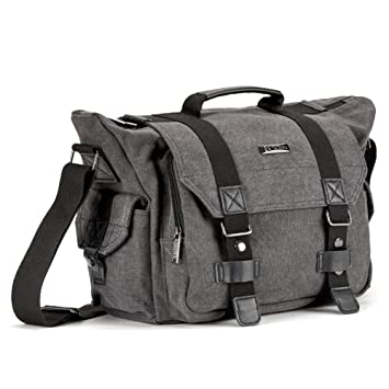 Amazon.com : SLR Camera Bag, Evecase Large Canvas Messenger SLR ...