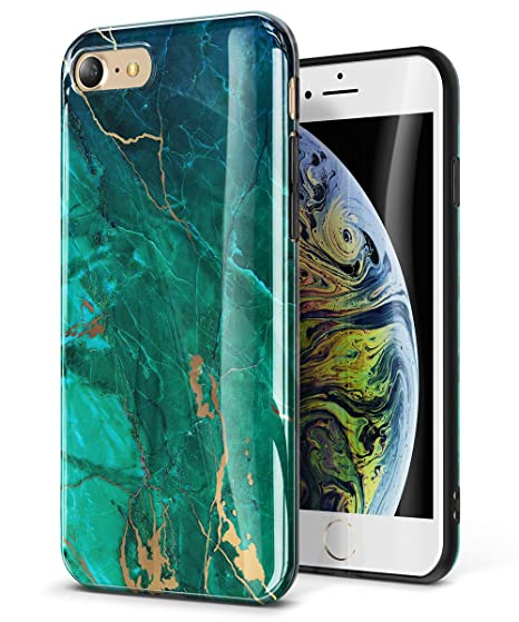reputable site 64f2b 391f2 GVIEWIN Marble iPhone 8 Case/iPhone 7 Case, Ultra Slim Thin Glossy Soft TPU  Rubber Gel Silicone Phone Case Cover Compatible iPhone 7/8 (4.7 inch) ...