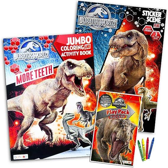pix Jurassic World Coloring Pages Baby Blue jurassic world malbuch set mit aufklebern und plakaten 3 bucher
