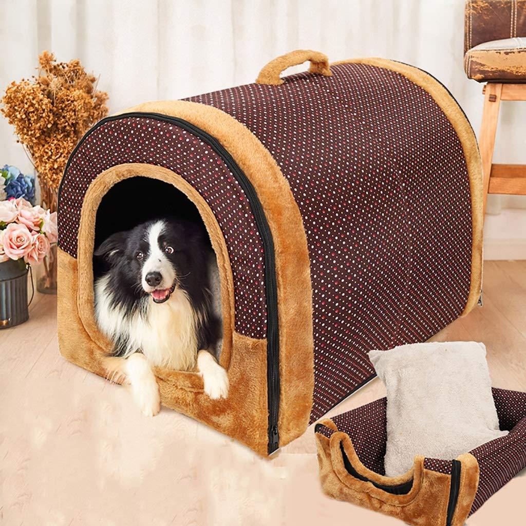 ペットハウスケンネル中型および大型犬折りたたみ式洗濯可能な犬舎ペットルームペットマットペットベッドペット用品ユニバーサル年中 (色 : E, サイズ さいず : 67*56*52) B07L5FX7R8 E 67*56*52