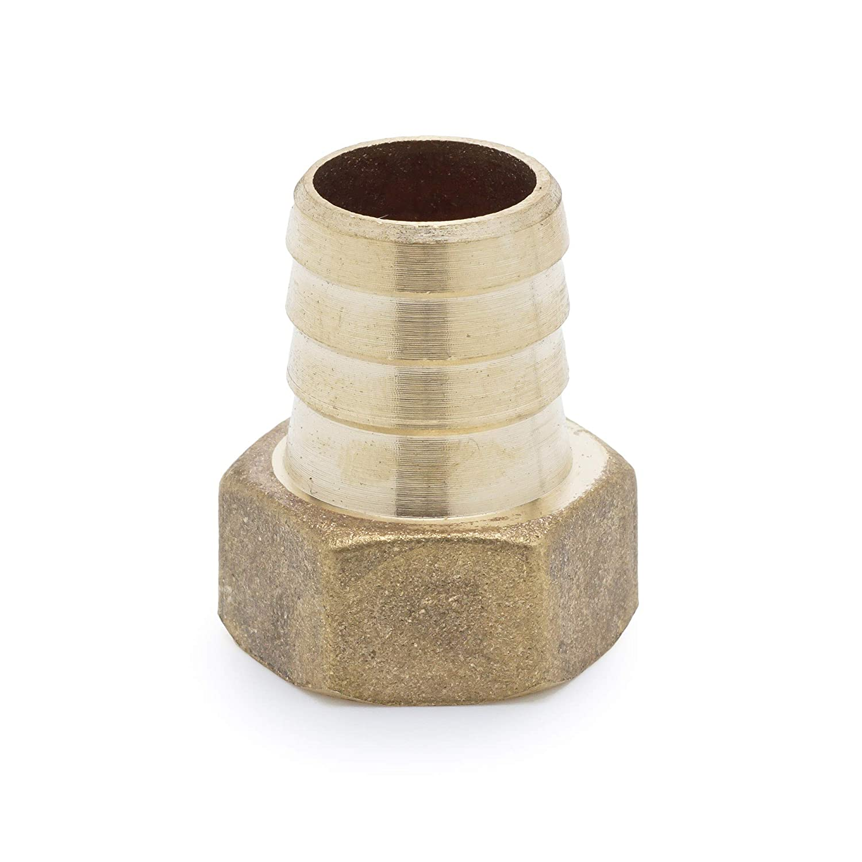 Barb Fittings for Repair Metal Hose Vacuum Gauge Fittings Brass Pipe Fittings Inside 1//2 Female 18mm