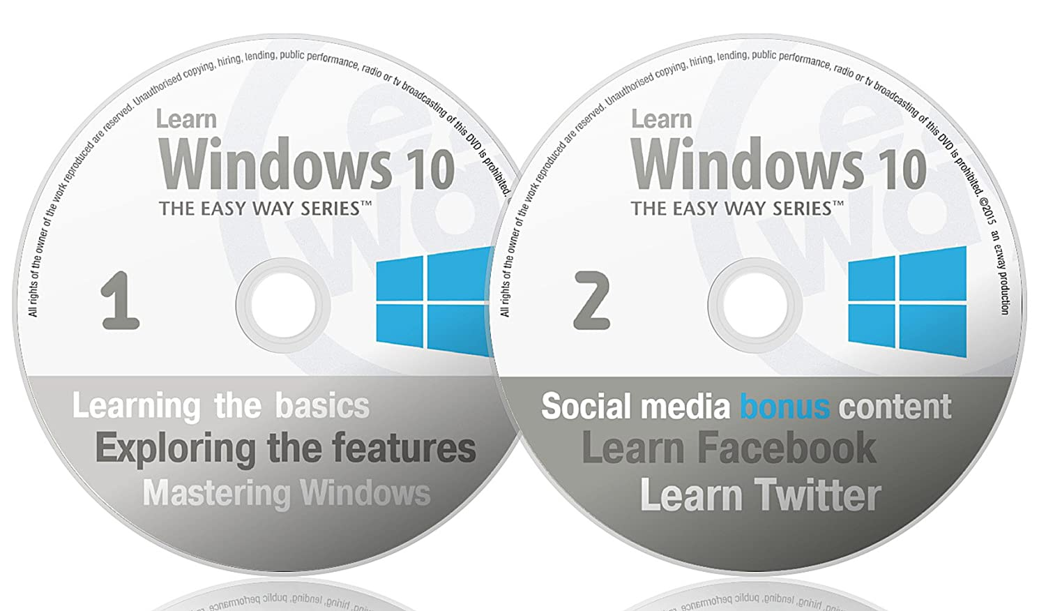 Show me how to play a dvd in windows 10 - Learn Windows 10 The Easy Way With Bonus Content On Learning Facebook And Twitter Pc Dvd Amazon Co Uk Software