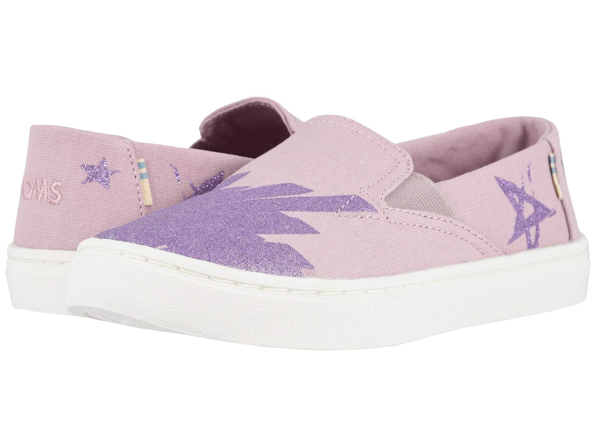 TOMS Youth Luca Slip-On Shoes, Size: 3.5 M US Big Kid, Color: Brnsh Lilac Glt Star by TOMS Kids (Image #7)