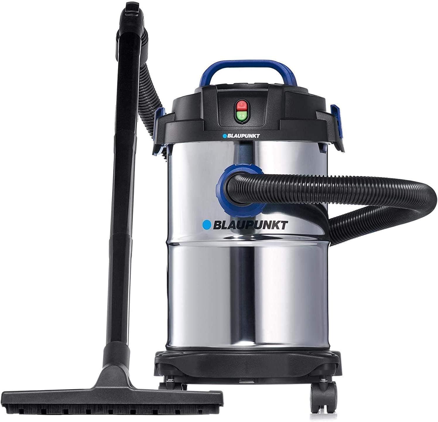 Blaupunkt WD5000 Aspiradora Industrial de Líquidos y Secos con Soplador 3 en 1 - Motor Eléctrico de 1300W - Tanque de Acero Inoxidable de 15 litros: Amazon.es: Bricolaje y herramientas