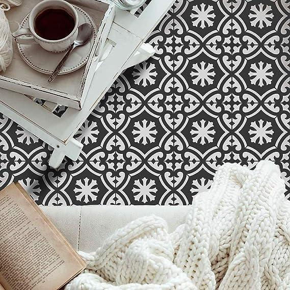 W/ände M/öbel Farbe Fliesen Muster auf B/öden Alumuk Boden Fliesen Schablone Wandfliese Wiederverwendbar Wohndeko /& Basteln Schablone 30X30CM