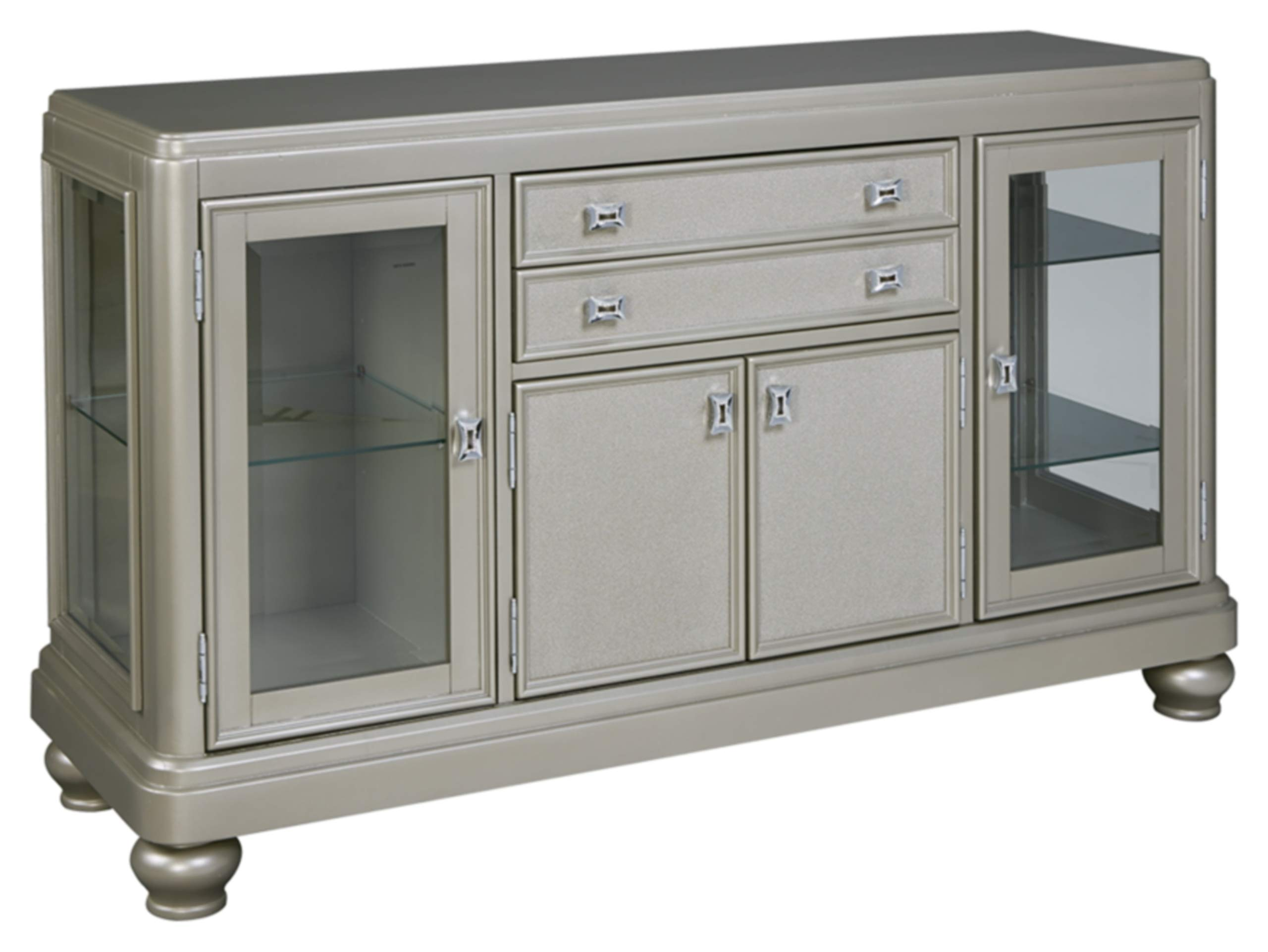 Ashley Furniture Signature Design - Coralayne Dining Room Server - Modern Style - Silver by Signature Design by Ashley