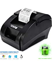 USB Thermal Receipt Printer 58mm TEROW Mini Portable Label Printer with High Speed Ticket Printing, Low Noise Compatible with ESC/POS Print Commands Set-5890K