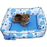 Cama Pet para Cães e Gatos com Laço Azul Tamanho P SS Pets para Cães