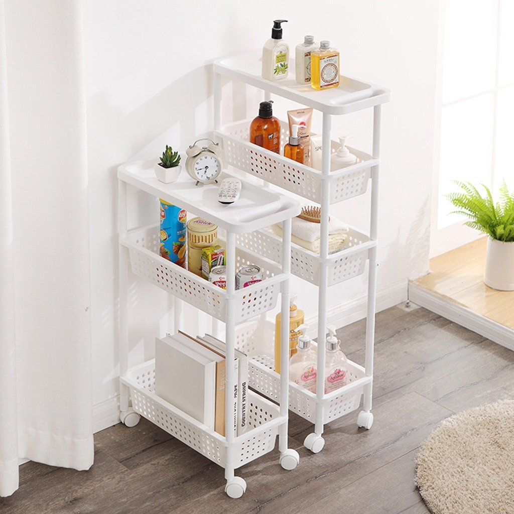 Amazon.com: Yxx max storage organiser Bathroom Bathroom Shelf Narrow Kitchen Storage Rack Trolley Living Room Refrigerator Slit Storage Shelf (Size : B): ...